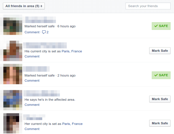 Facebook Safety Check - See if your Friends in Paris are Safe 02
