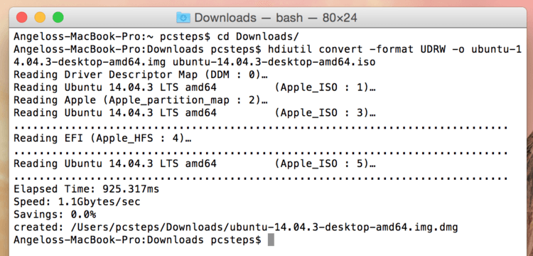 mac os linux iso to usb