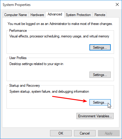 Stop Auto Reset after a Blue Screen Error on Windows 02