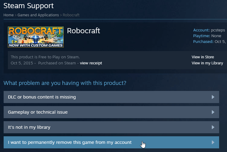 Delete Steam Games From Account