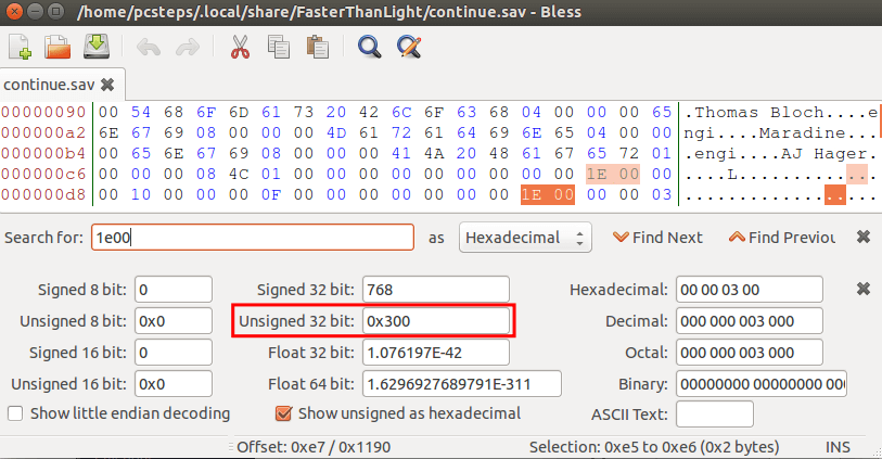 Linux Mint - Ubuntu Hex Editor - Edit Data files with Bless 11