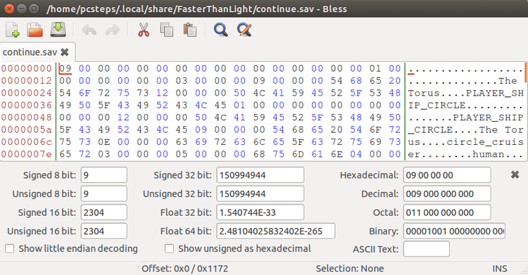 Linux Mint / Ubuntu Hex Editor: Edit Data files with Bless