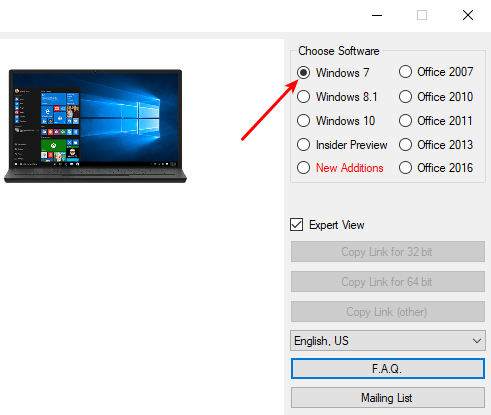 windows 7 product key to download iso