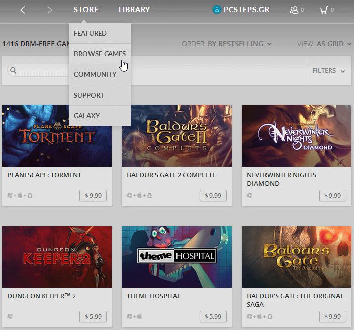 GOG Galaxy - A DRM-Free Steam Alternative in Beta 07