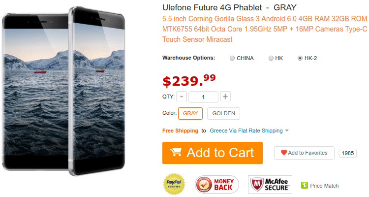 Ulefone Smartfone Flash Deals $49.99 - $239.99 03