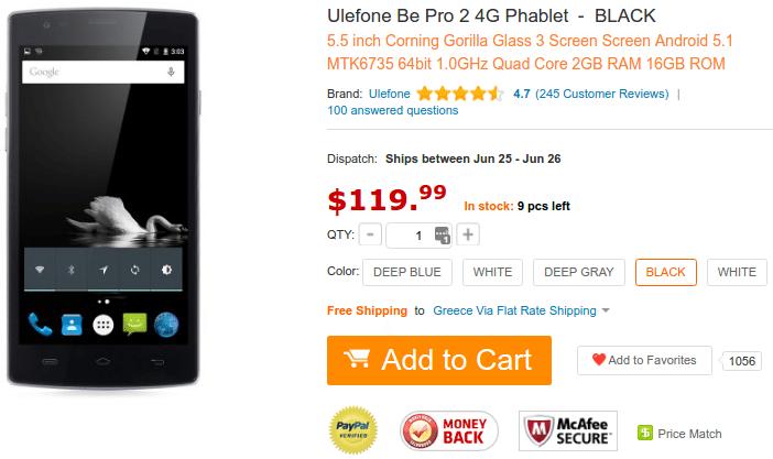 Ulefone Smartfone Flash Deals $49.99 - $239.99 04