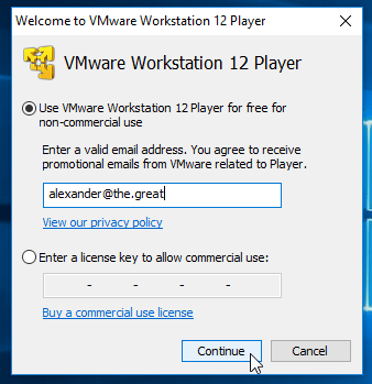 vmware workstation 12 player key