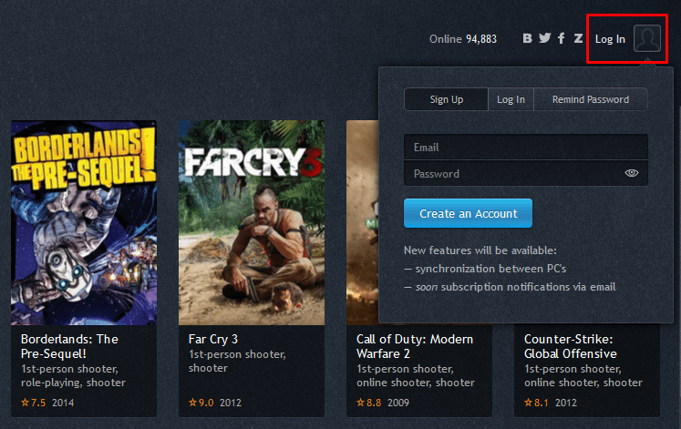 Try Any Game Before you Buy