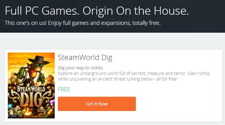 The latest Free Games on Origin