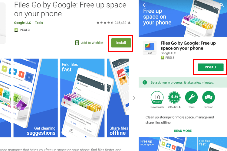 How To Save Space On My Phone With Google Files Go | PCsteps com