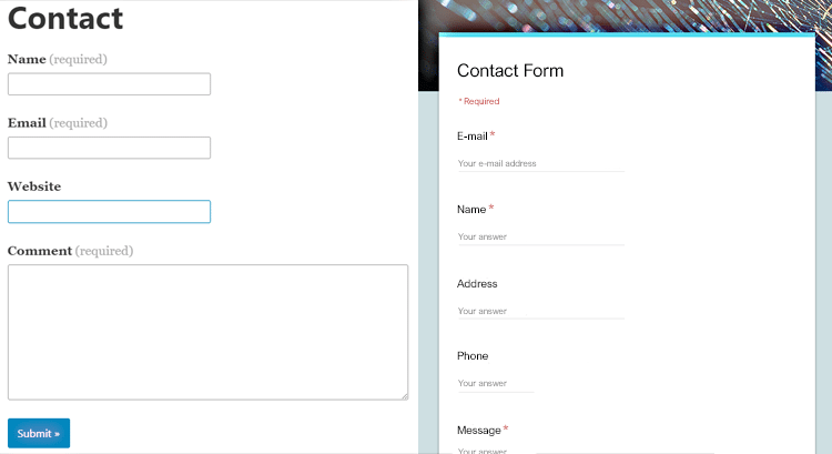 How To Make A Free Website Contact Form With Google Forms