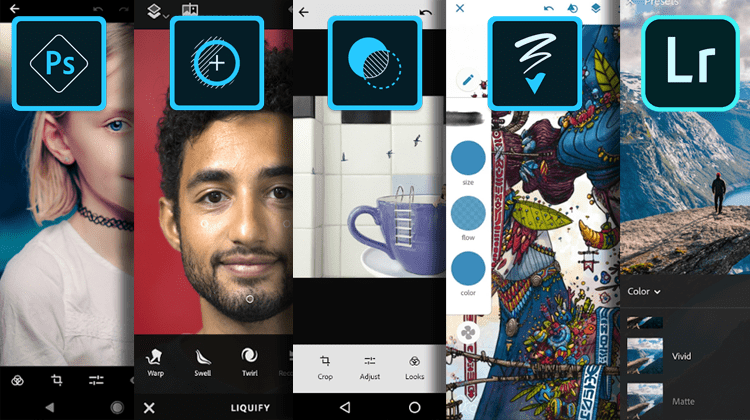 Free Photoshop Express, Fix, Mix, and Sketch For Our Phone