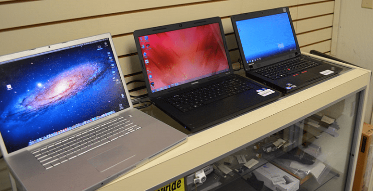 In-store laptops